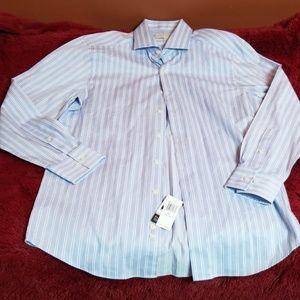 Michael Kors blue w/ stripes dress shirt